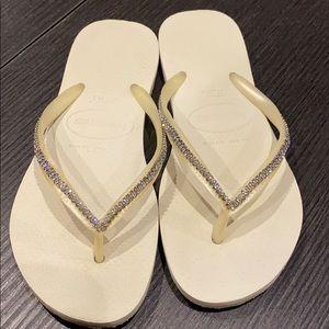 Havaianas Special Collection  Crystal Flip Flops